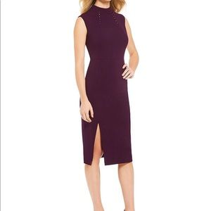 IVANKA TRUMP ‼️Mock Neck Sheat  with Slit Dress